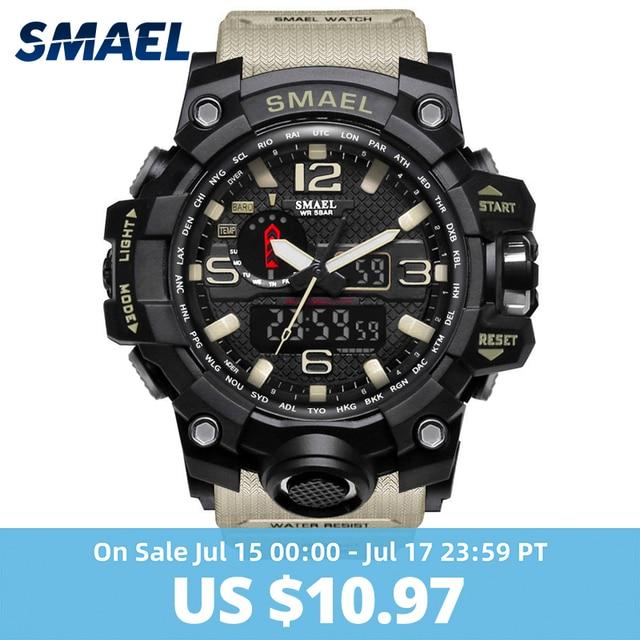 Relógio militar masculino, relógio a prova d'água 50m, relógio quartzo de LED, relógio esportivo masculino, relogios masculinos, 1545 relógio esportivo masculino S Shock