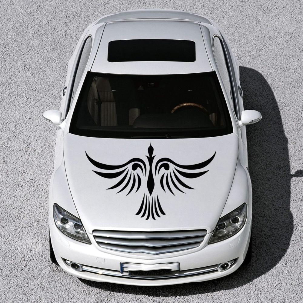 Car sticker design for white car - Car Hood Vinyl Decal Graphics Stickers Murals Design Phoenix Bird Tattoo China Mainland