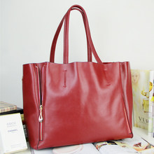 New 100% genuine leather women Handbag fashion shopping big bags 2016  high quality Cowhide Casual Lady shoulder bag