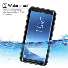 waterproof Case for Samsung Galaxy S9 Shockproof Dirtproof Full Sealed Cases surf Cover for Samsung S 9 S9 Plus Swimming Case стоимость