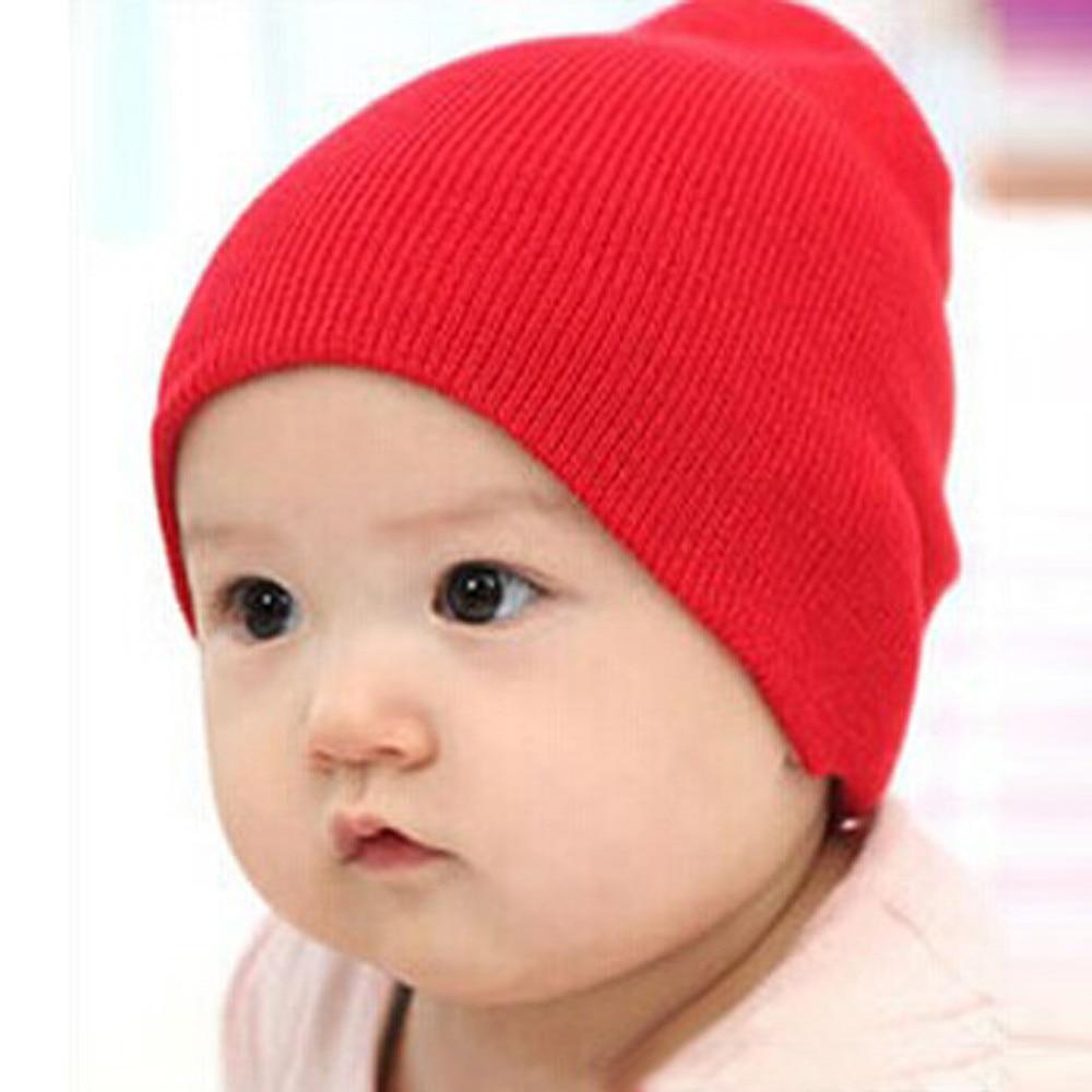 Sleeper #5001 Baby   Beanie   Boy Girls Soft Hat Children Winter Warm Kids Knitted Cap Cotton Stretchy 31-33CM 2018 Free Shipping