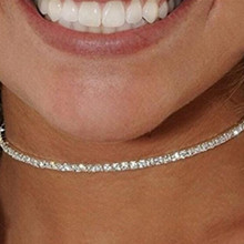 Shiny star bridal wedding party crystal stretch rhinestone choker elegant elastic fashion necklace for women jewelry x186