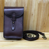 Punk Europe And The United States New Retro Small Mini Men S Pockets Leather Phone Bag