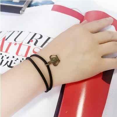 Kreatywny koronkowa bransoletka minimalistyczny z kwiatami podwójna warstwa koniczyny Cherry uśmiech krople gwiazda bransoletki i bransoletki typu bangle dla kobiety piękna biżuteria