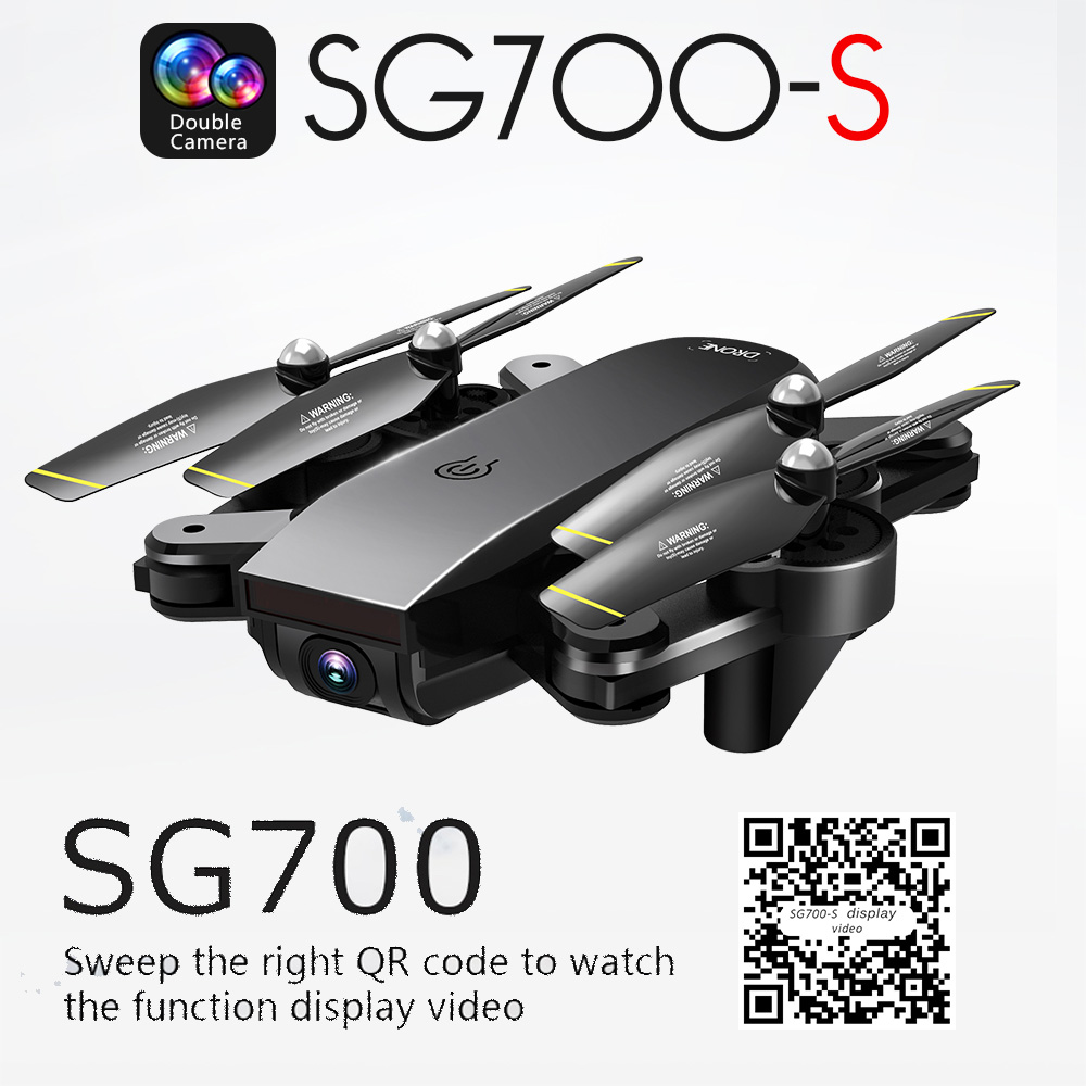RC Drone with 1080P Dual Camera Wifi FPV Foldable Selfie Drone Follow Me Altitude Hold Drons RC Dron Helicopter vs CG033 cg033 dron follow me brushless motor rc drone with 1080p camera no wifi fpv long fly time rc helicopter pk aosenma cg035 s70w