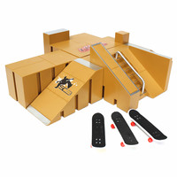 New 3x Fingerboard Finger Board Skate Ramp Table Set Professional Platform Ultimate Parks 92A w/Box For Tech Deck Boarding Toy
