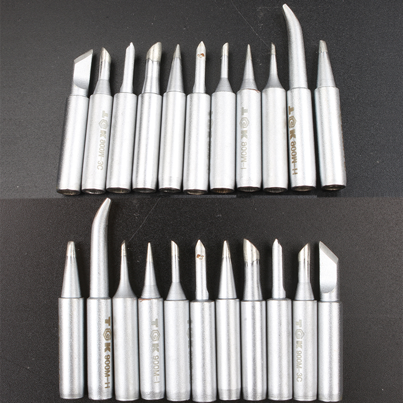 10pcs Tips Set Soldering Iron Tips Solder Tip Lead-free Screwdriver Iron Tip <font><b>900M</b></font>-<font><b>T</b></font>-I/ B/K/ 1.6D/ H/ 3.2D/ 2C/ 3C/ <font><b>4C</b></font>/SK image