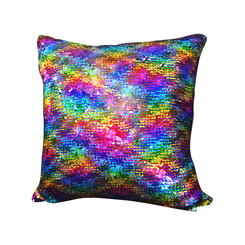 High Quality Multicolor Glitter Sequins Throw Pillow Covers Cafe Home Decor Decorative Cushion Covers Home Decorative Hot Sell