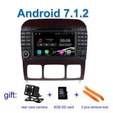 2 GB de RAM Android 7.1 Coches Reproductor de DVD para Mercedes/Benz Clase S W220 S280 S320 S350 S400 S420 S430 S55 S65 con Radio WiFi BT GPS