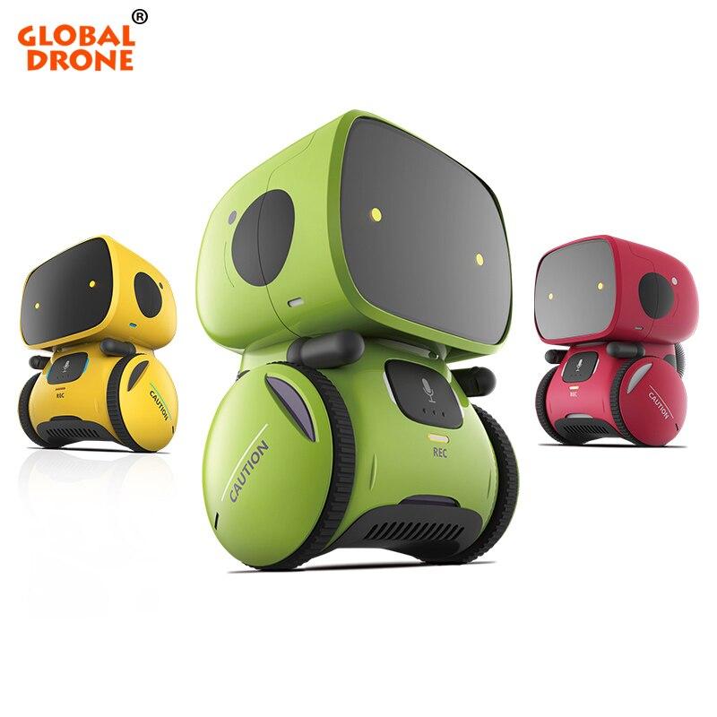 Globale Drone Gw-a1 Rc Roboter Für Kinder Dance Musik Aufnahme Dialog Geburtstag Weihnachten Geschenke Touch-sensitive Roboter Spielzeug Rc-roboter