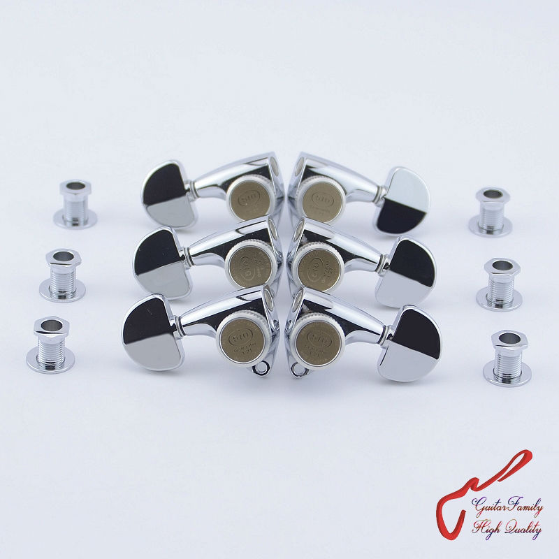 Genuine Original L3+R3 GOTOH SGV510Z-20-MGT Guitar Locking Machine Heads Tuners ( Chrome ) MADE IN JAPAN original genuine gotoh ge1996t 36mm block locking tremolo system bridge without locking nut chrome made in japan