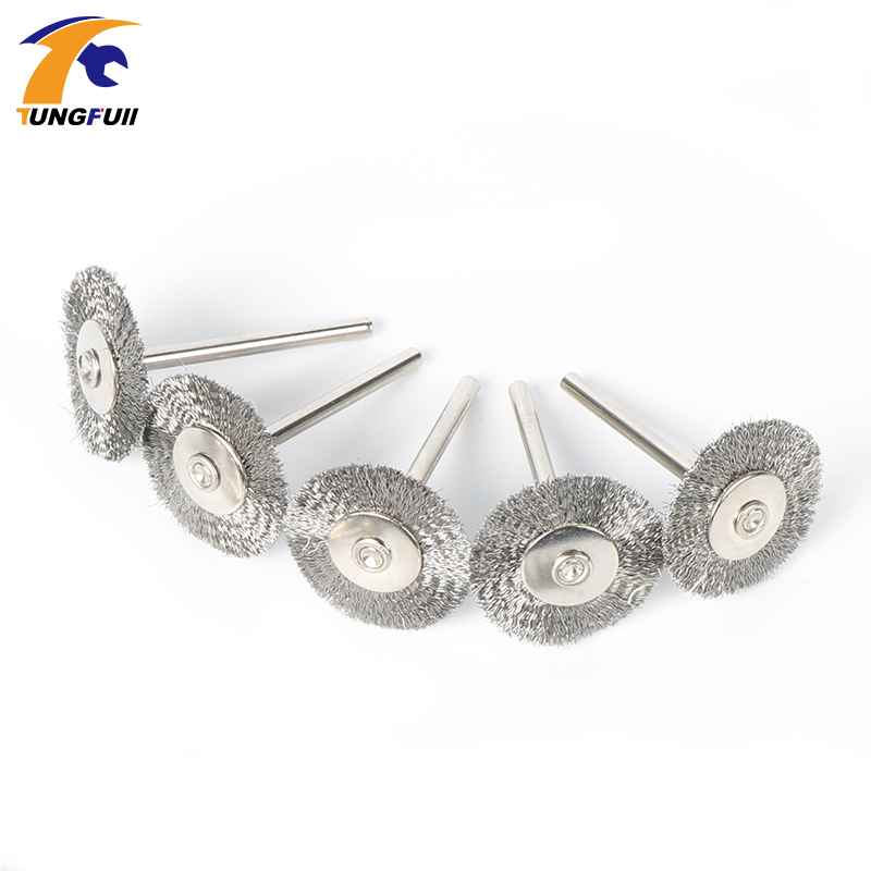 Tungfull Stainless Steel Wire Wheel Brush Dremel Tools Electric Tool For Mini Drill Power Tool Electric Burr Deburring