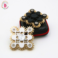 Tri Spinner Hand Spinner 9 linkage duivel niveau Grappige Metalen EDC Hand Spinner Voor Autisme ADHD Anti Stress Fidget Toy