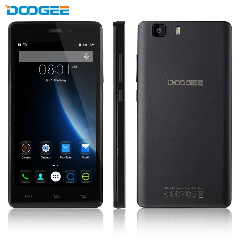 DOOGEE X5 Pro 4G Smartphone Android 5.1 MTK6735 Quad Core 5'' Mobile Phone Dual SIM Quad Core 2400mAh 2G + 16GB 8MP Cellphone