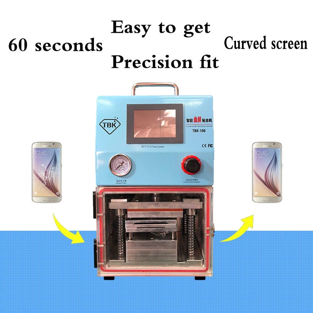 TBK 108 Vacuum LCD Screen Laminating Machine for Samsung Galaxy S6 S7edge S6+edge S8 S8plus