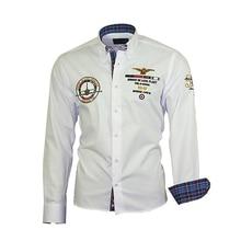 ZOGAA Hot Sale Men Shirt 2019 Spring New Mens Fashion Dragon Print Slim Fit Casual Social Business Long-sleeved
