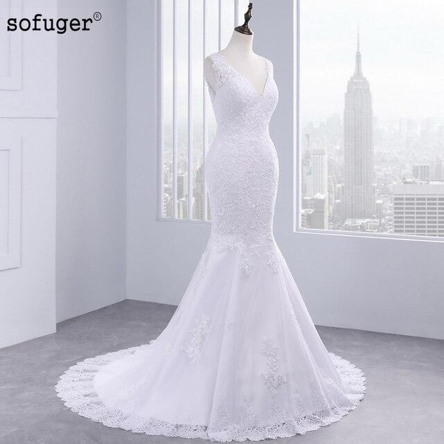 Vestido De Noiva 2017 Mermaid Wedding Dresses V Neck Lace Hot Sell ...