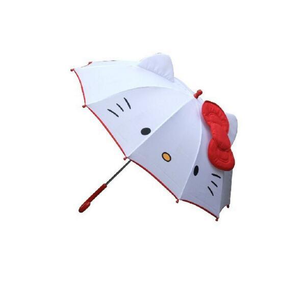 Hot Lovely Cartoon Hello Kitty gyerekek Anime esernyő gyerekeknek Lány Aranyos Umbrella Baby Student Fehér esernyő Ingyenes szállítás