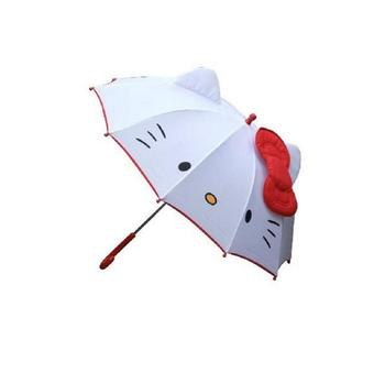 Hot Schönen Cartoon Hallo Kitty Kinder Anime Regenschirm für Kinder Mädchen Niedlich Regenschirm Baby Student Weißen Regenschirm Freies Verschiffen