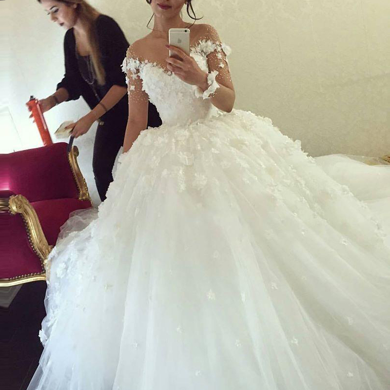 Online get cheap saudi wedding dress for Cost to rent wedding dress in jamaica