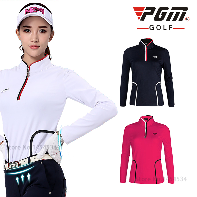 Ms PGM Authentic Golf Long Sleeve T-shirt Girls Golf Shirts Women quick Dry Golf Clothes TT Design Golf Apparel trainning shirts цена 2016