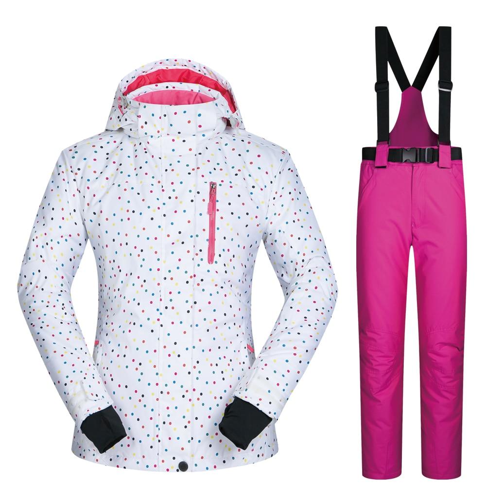 Snowboard costumes femmes vêtements veste de Ski et pantalon neige ensembles BDD extérieur coupe-vent imperméable vêtements hiver Ski costume marques - 3