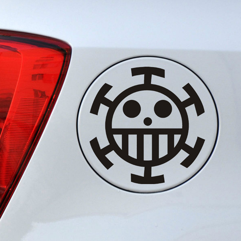 ONE PIECE Car Stickers Cartoon Pirate Creative Decals For Fuel Tank Cap Waterproof Auto Tuning Styling 13*13cm  D16
