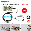 Armgroup 10pcs 7mm Lens USB Android Endoscope Camera Waterproof Snake Tube 2M Inspection Micro USB Borescope Endoscopio Camera