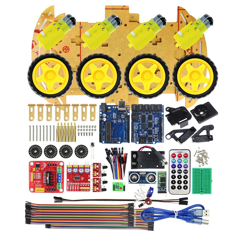 Bluetooth управлять роботом автомобиля Наборы тонн опубликовано бесплатные коды UNO R3 MEGA328P для Arduino совместимый с UNO R3