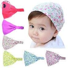 Haimeikang 2017 Fashion Cute Kids Print Flower Kerchief Headband Girls Sweet Casual Bandanas Fabric Headkerchief Headpiece