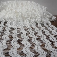 1.5x3 meters=1 Piece dress lace! Light ivory cording eyelash lace trim lace fabric scallop border trimming lace for women skirt!