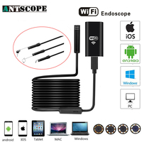 Antscope Iphone Endoscope HD Wifi Camera 8mm 720P Borescope Waterproof Camera Endoscopio Hard Tube Wifi Endoscope