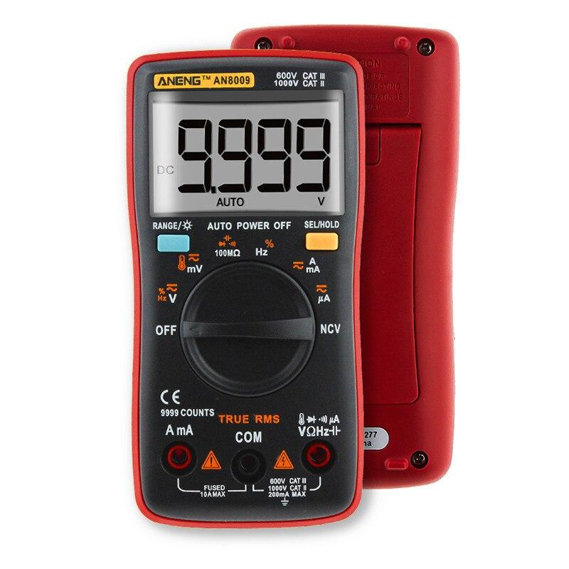 ANENG AN8009 True-RMS Auto Range Digital Multimeter NCV Ohmmeter AC/DC Voltage Ammeter Current Meter Temperature Measurement my68 handheld auto range digital multimeter dmm w capacitance frequency