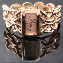 כפול אבזם שרשרת צמיד שעון נשים מדהים קוורץ שעוני יד 1111 שעונים montre femme רוז זהב, כסף, זהב