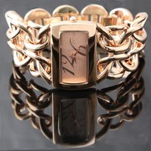 Dubbele Sluiting Ketting Armband Horloge Vrouwen Prachtige Quartz Horloge 1111 Horloges Montre Femme Rose Goud, Zilver, Goud