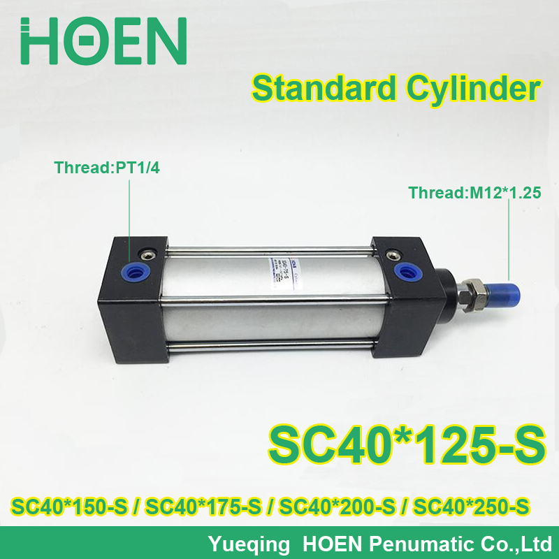 SC40*125-S SC40*150-S SC40*175-S SC40*200-S SC SC40*250-S Series 40mm bore SC series Single Rod Standard Pneumatic Air Cylinder sc40 150 s 40mm bore 150mm stroke sc40x150 s sc series single rod standard pneumatic air cylinder sc40 150 s