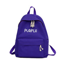 e7ea837ca80b Women New Canva Backpack Embossing Letter Rucksack Shoulder Candy Color Bag  School Bag Casual Softback Yellow