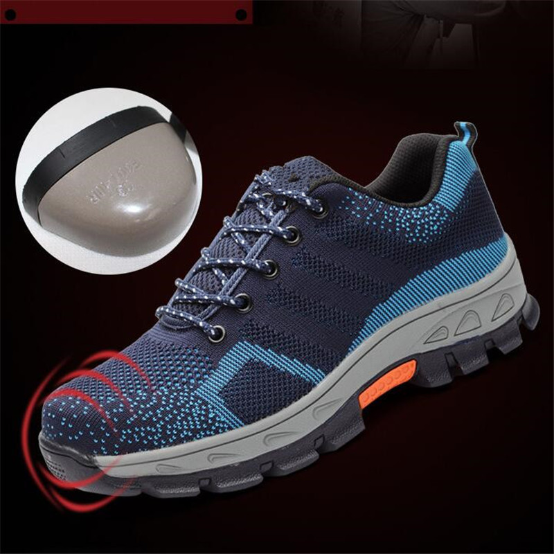 2017 Air Mesh Unisex Boots Men Work Safety Shoes Steel Toe Cap For Anti-Smash Puncture Proof Durable Breathable Protect Footwear