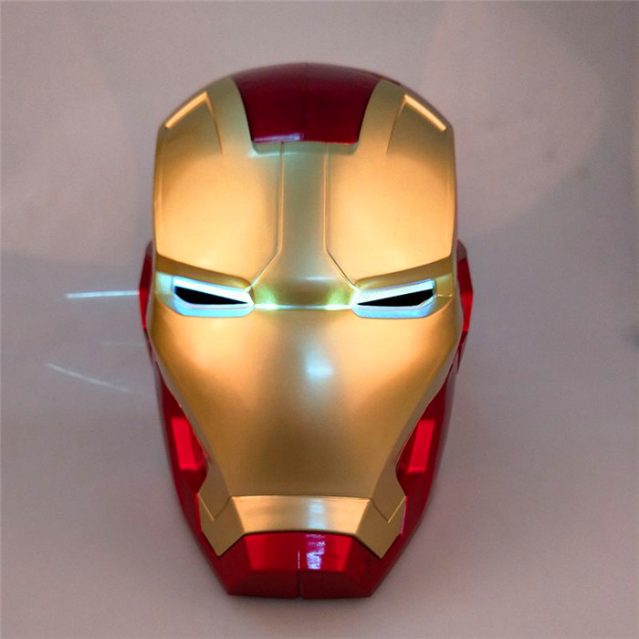 Avengers Superhero Helmet Iron Man PVC Helmet Adult Size Luminescent Induction Electricity Helmet