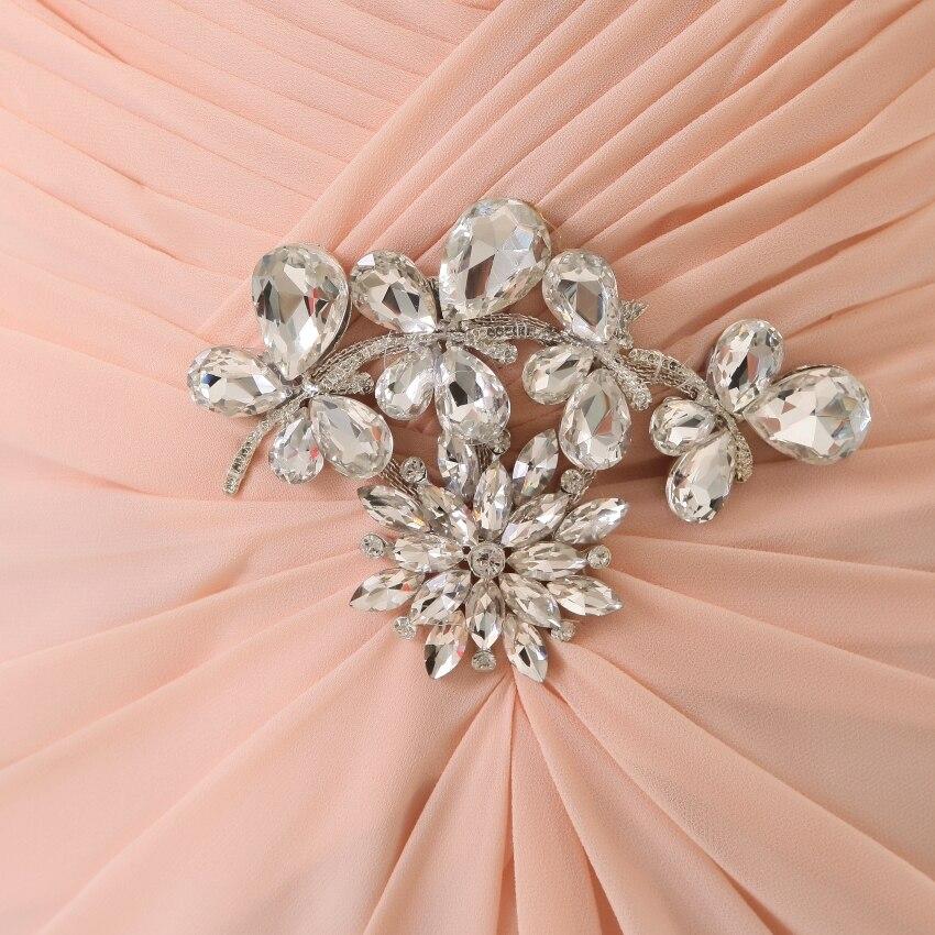 Vestidos de dama de honor 2019 YOUXI BD012 vestidos de Chifón con relleno suave rosa - 3