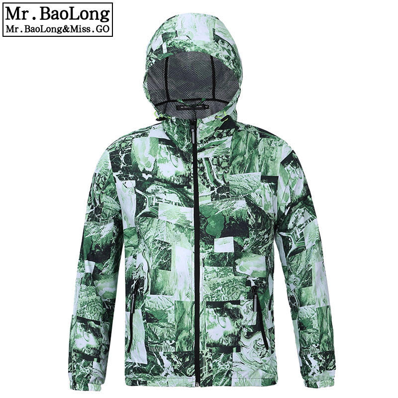 2017 Autumn Waterproof Windbreaker Outwear Fashion Camo Jacket For Men/Women Trench With Army Green Camouflage Print Coat Homme