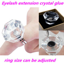 1pc False eyelash glue ring, crystal cup Eyelash extension tattoo Cup, tray