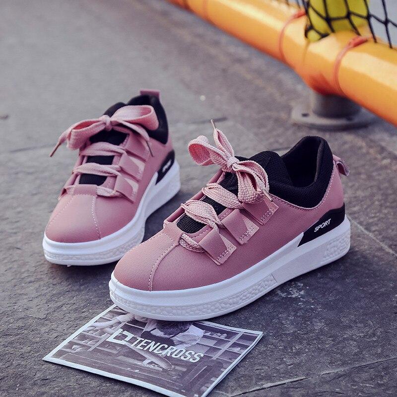 En Plein Femmes gris Vogue Sneakers Chaussures Air Été Printemps Ronde Confortables Noir rose Appartements De Automne Mode Occasionnels Orteil Marche ZqU6wRq