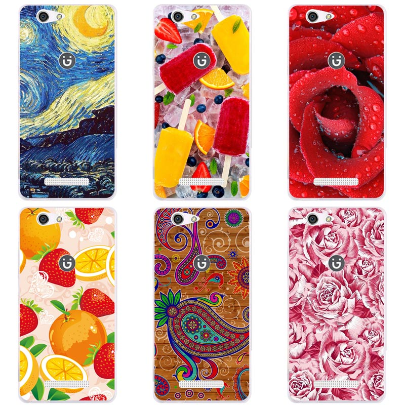 Luxury Printing Case For <font><b>Gionee</b></font> <font><b>F103</b></font> <font><b>Pro</b></font> Art Printed Flower Cell Phone Cover Rose Funda Cute Animal Coque image