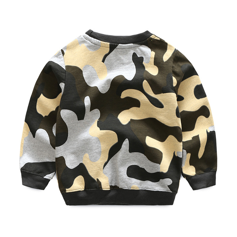 Kids camouflage hoodies sweatshirts boys girls fashion cotton active Sweater Pullovers baby Toddler T-shirts Children clothes