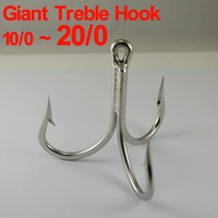 20 0 18 0 10 0 Super Large Stainless Steel Treble Hook High Quality Hand Made
