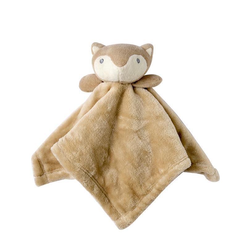 Cute Baby Plush Rattle Bunny Bear Soothing Towel Newborn Dolls Toys Infant Soft Security Blanket Sleep Companion Plush Toys