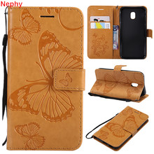 Nephy Flip Leather Cell Phone Case for Samsung galaxy S9 S8 Plus S7 S6 edge S5 Neo Note 3 4 8 Wallet Holder Soft butterfly Cover(China)