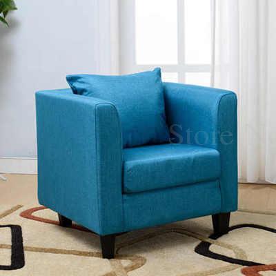Тканевая одноместная Софа стул Европейская маленькая квартира отель кафе интернет кафе карточка сиденья PU диван - Цвет: VIP 19
