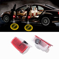 2pcs LED Car door courtesy laser projector Logo Ghost Shadow Ligh for Mercedes Benz W205 C class 2015-2017